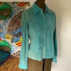 ♦️HOST PICK♦️Genuine SUEDE Italian leather Shirt